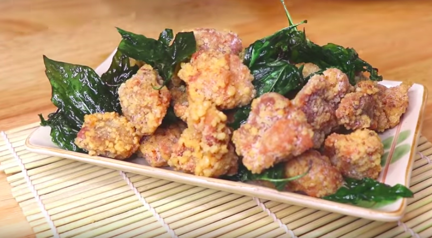 Taiwanese Popcorn Chicken With Basil